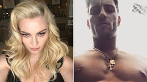 Madonna y el modelo luso Kevin Sampaio, su nuevo amor.