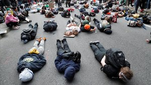 Manifestación en Portland por el asesinato de Floyd.