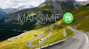 Aplicación móvil Maps.me.
