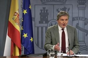 El ministro portavoz Íñigo Méndez de Vigo, tras el Consejo de Ministros.