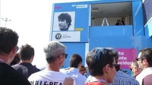 Movistar MotoGP ha bautizado hoy su plató con el nombre de Ángel Nieto 12+1.