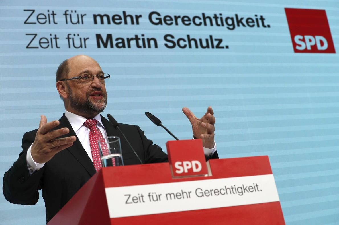 El líder del SPD Martin Schulz.