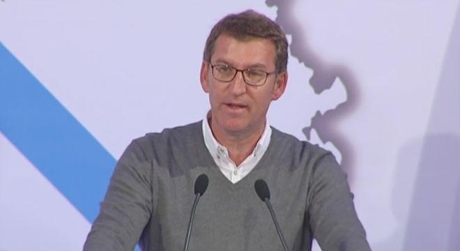 Nuñez-Feijóo anunciandoque presentará su candidatura.
