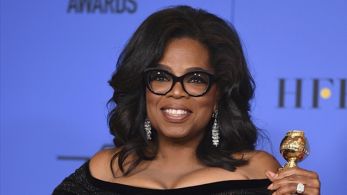 Oprah Winfrey posando en la sala de prensa de la 75aedición de los Globos de Oro el pasado 7 de enero.