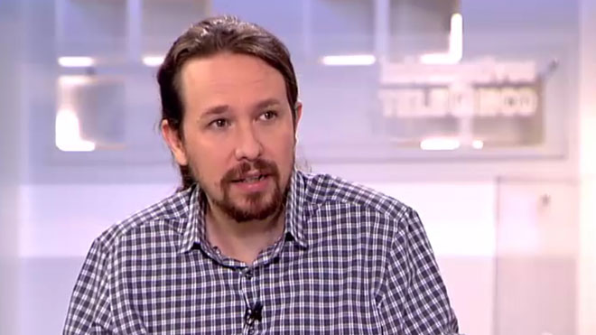 Pablo Iglesias, en una entrevista en TeleCinco: Nuestros hijos están mejor gracias a la sanidad pública.