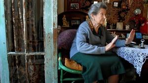 Paquita Gorroñodurante el homenaje que recibió tras cumplir 70 años viviendo en Marruecos.