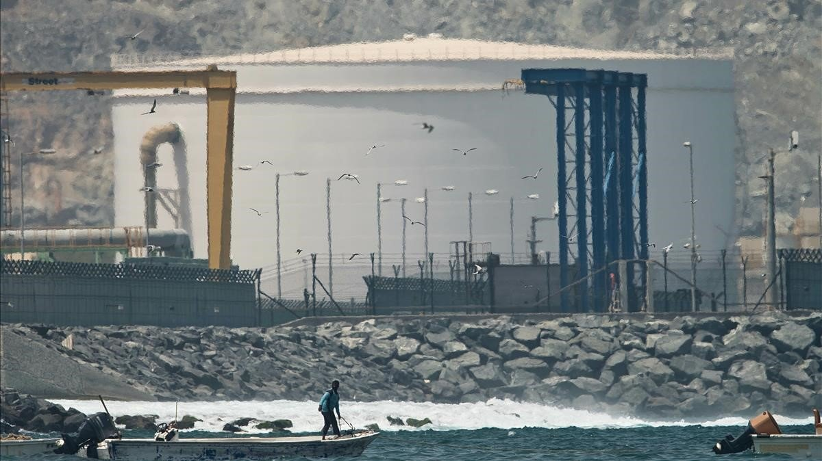 Una instalación petrolera de los Emiratos Árabes Unidos.