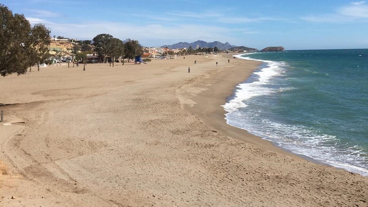Playa de Bolnuevo, en el municipio de Mazarrón (Murcia).