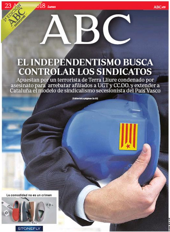 El independentismo busca controlar los sindicatos, denuncia 'Abc'