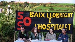 Presentación del manifiesto SOS Baix Llobregat i L'Hospitalet en la Colonia Güell.