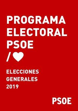 Programa electoral del PSOE para las elecciones generales 2019.