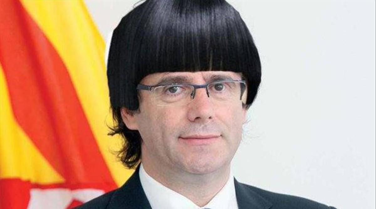 Un meme sobre el nuevo look de Carles Puigdemont.