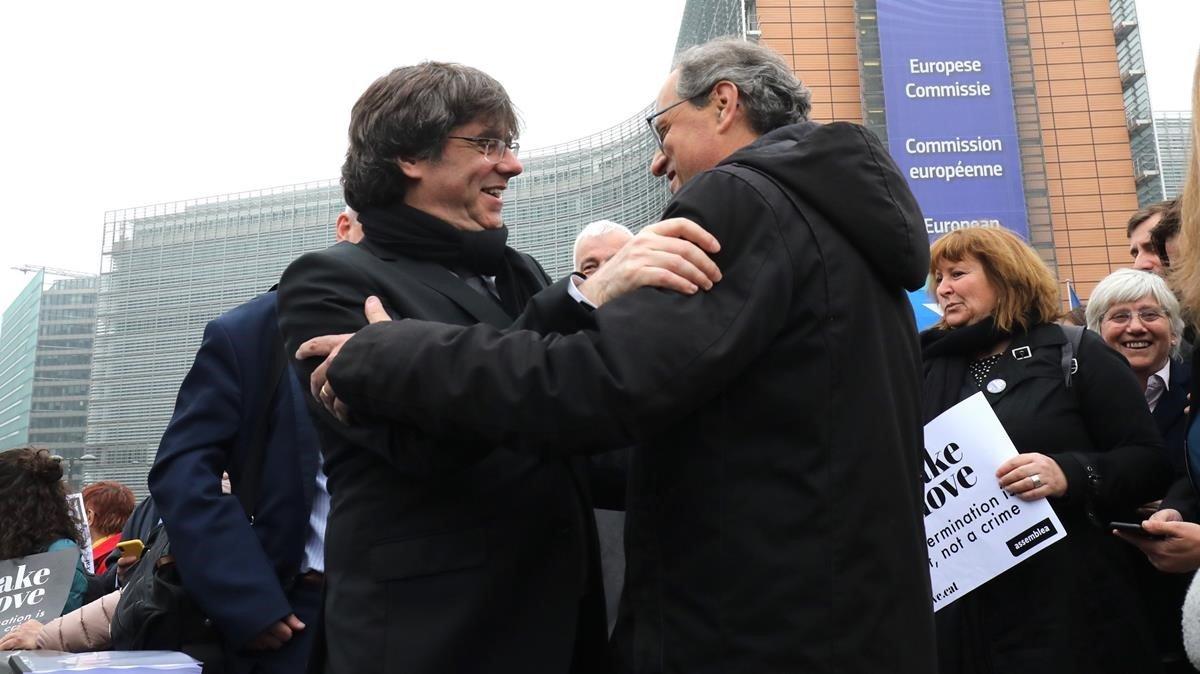 Puigdemont y Torran, en Bruselas