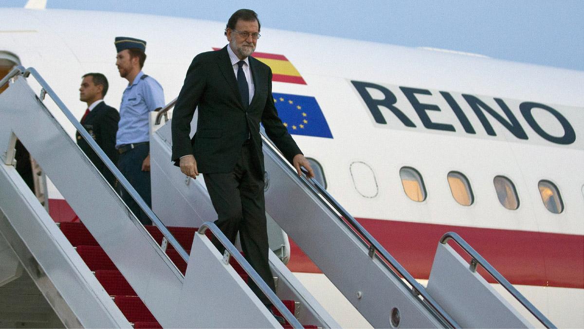 La llegada del presidente del Gobierno,Mariano Rajoy a Washington, donde se reunirá con Donald Trump.