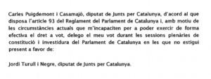 Puigdemont quería votar la constitución del Parlament y se echó atrás