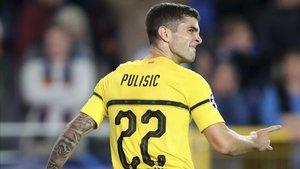 Pulisic, en un partido del Dortmund.