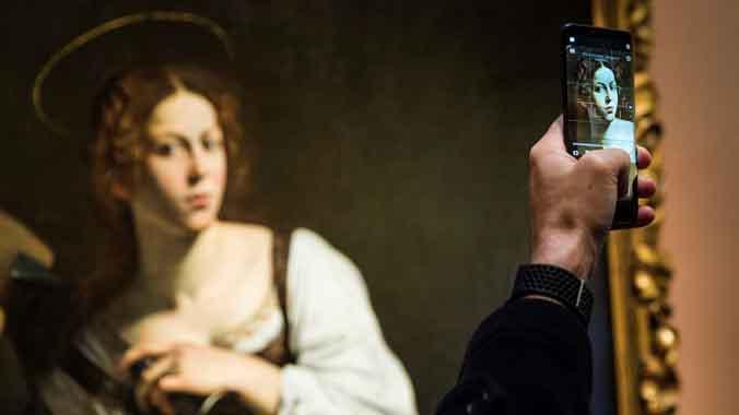 La Santa Catalina de Caravaggio, tras su restauración, inagurada en la Thyssen.