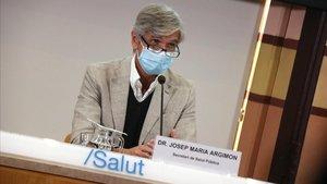 El secretario de Salut Pública y gerente del Institut Català de la Salut (ICS), Josep Maria Argimon, este martes.