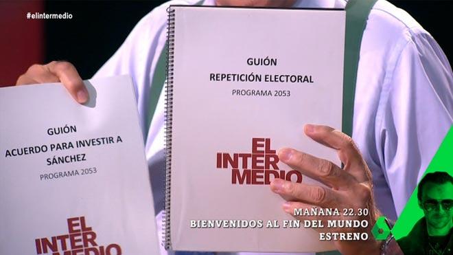 Los dos guiones de 'El Hormiguero'.