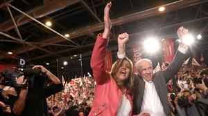 Susana Diaz presenta su candidatura a las primarias del PSOE.