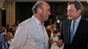 """De Guindos insisteix a demanar """"rapidesa"""" en la investigació del BBVA sobre les escoltes de Villarejo"""