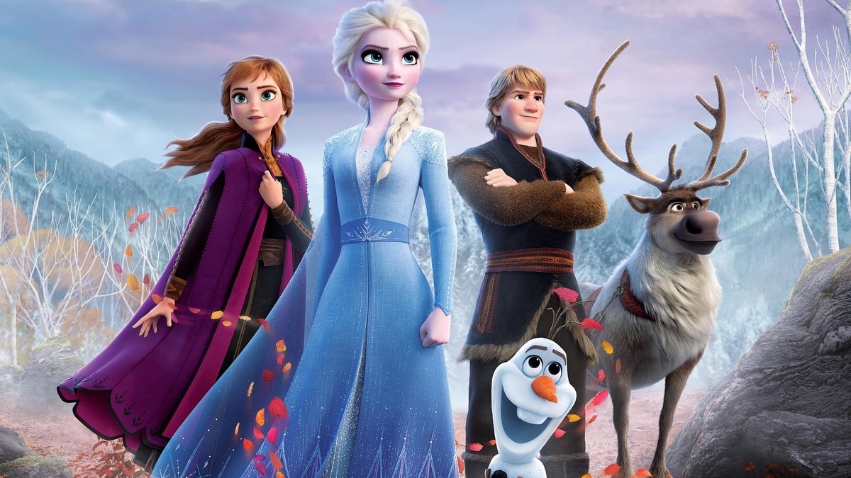 Una imagen promocional de 'Frozen II', con la princesa Elsa en primer plano