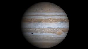Combinación de 4 fotos de Júpiter tomadas por la misión Cassini en el 2000.