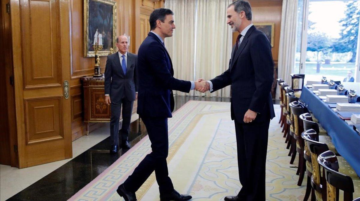 Felipe VI recibe a Pedro Sánchez en la Zarzuela, el pasado 4 de marzo, en la anterior reunión del órgano de seguridad nacional.