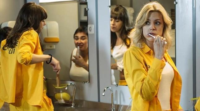 La actriz Maggie Civantos, en una imagen de la serie Vis a vis.
