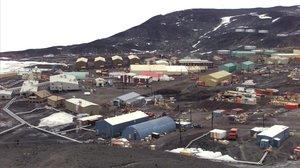 Vista general de la Base McMurdo de la Antártida.