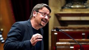 Xavier Domènech, en el Parlament