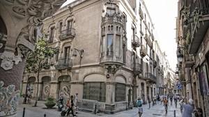 Fincas en las que Félix Millet y Jordi Montull pretendían construir un hotel de lujo frente al Palau de la Música.