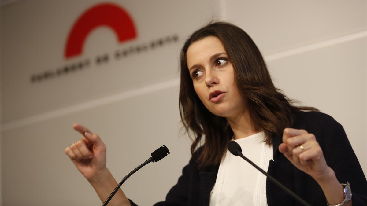 La líder de Ciutadans en Catalunya, Inés Arrimadas.