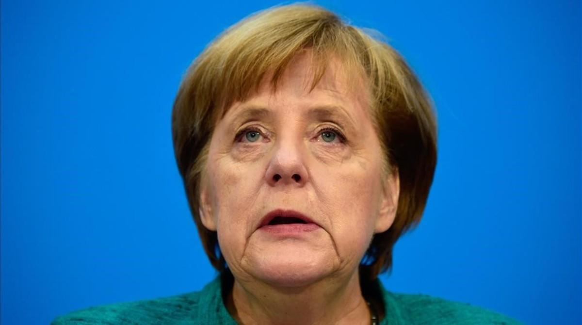 La cancillera Angela Merkel el pasado 7 de febrero.