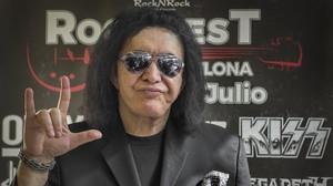 Gene Simmons, bajista y cantante de Kiss, en la presentación del Rock Fest BCN.