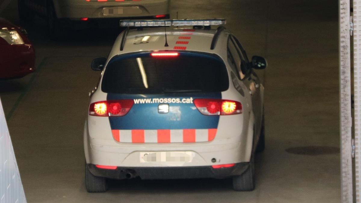 Un coche de los Mossos dEsquadra.