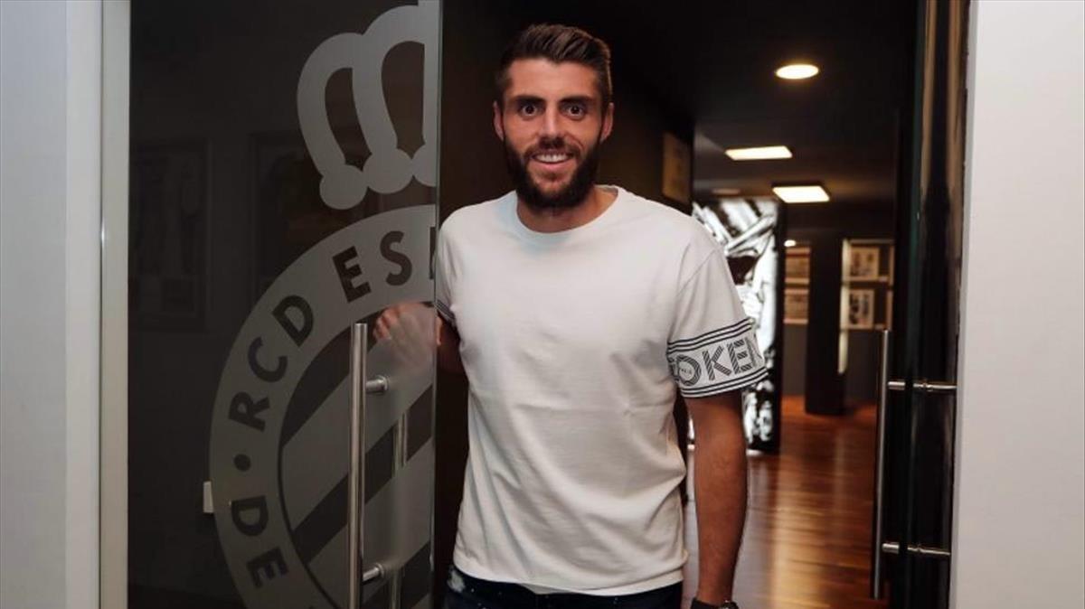 David López, satisfecho tras renovar con el Espanyol.