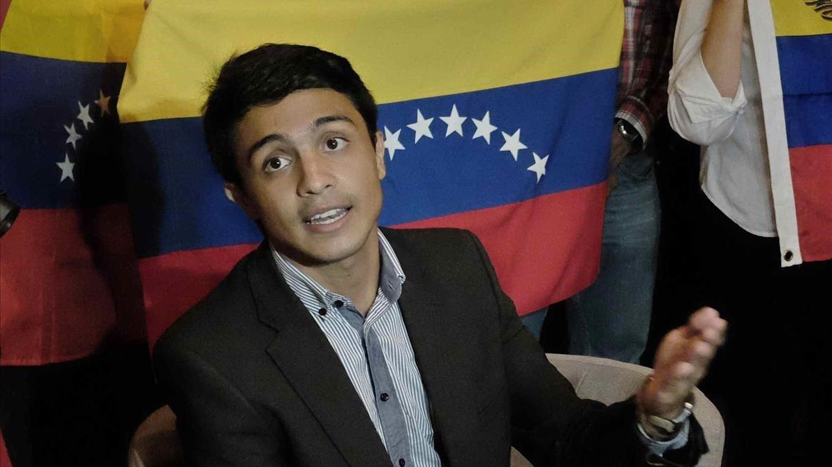 Lorent Saleh, opositor venezolano, en el 2014.