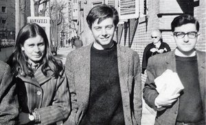Lola González, Enrique Ruano y Francisco Javier Sahuquillo, en una foto de finales de los años 60.