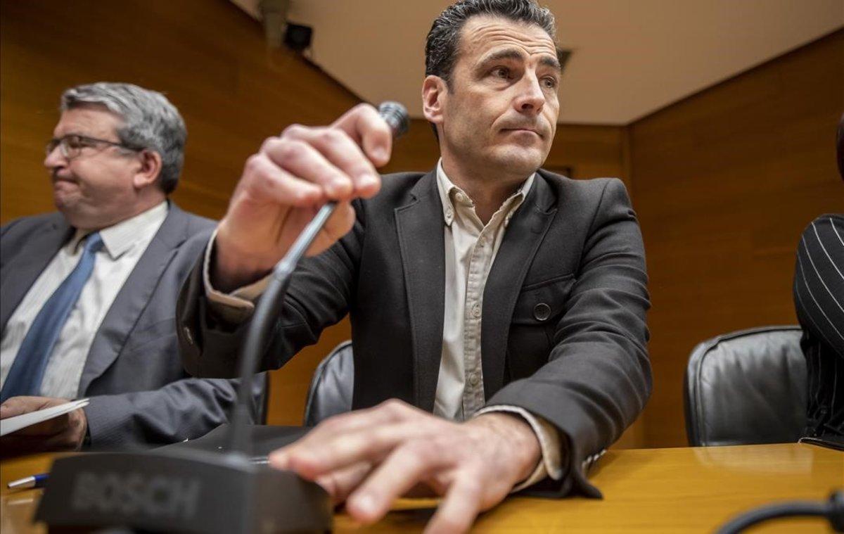 Alfred Costa, en la comparecencia de la comisión de Les Corts que ha aceptado su nombramiento como director general de À Punt