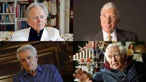 De izquierda a derecha y de arriba abajo, Tom Wolfe, John Updike, John Irving y Norman Mailer.