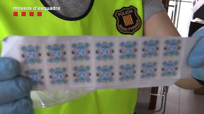 Desarticulat un laboratori de falsificació de moneda a Granollers