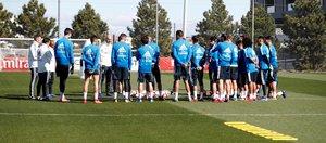 Primer entrenamiento de la nueva etapa de Zidane en el Madrid.