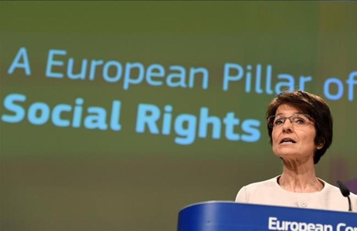 Marianne Thyssen, comisaria europea de Empleo.