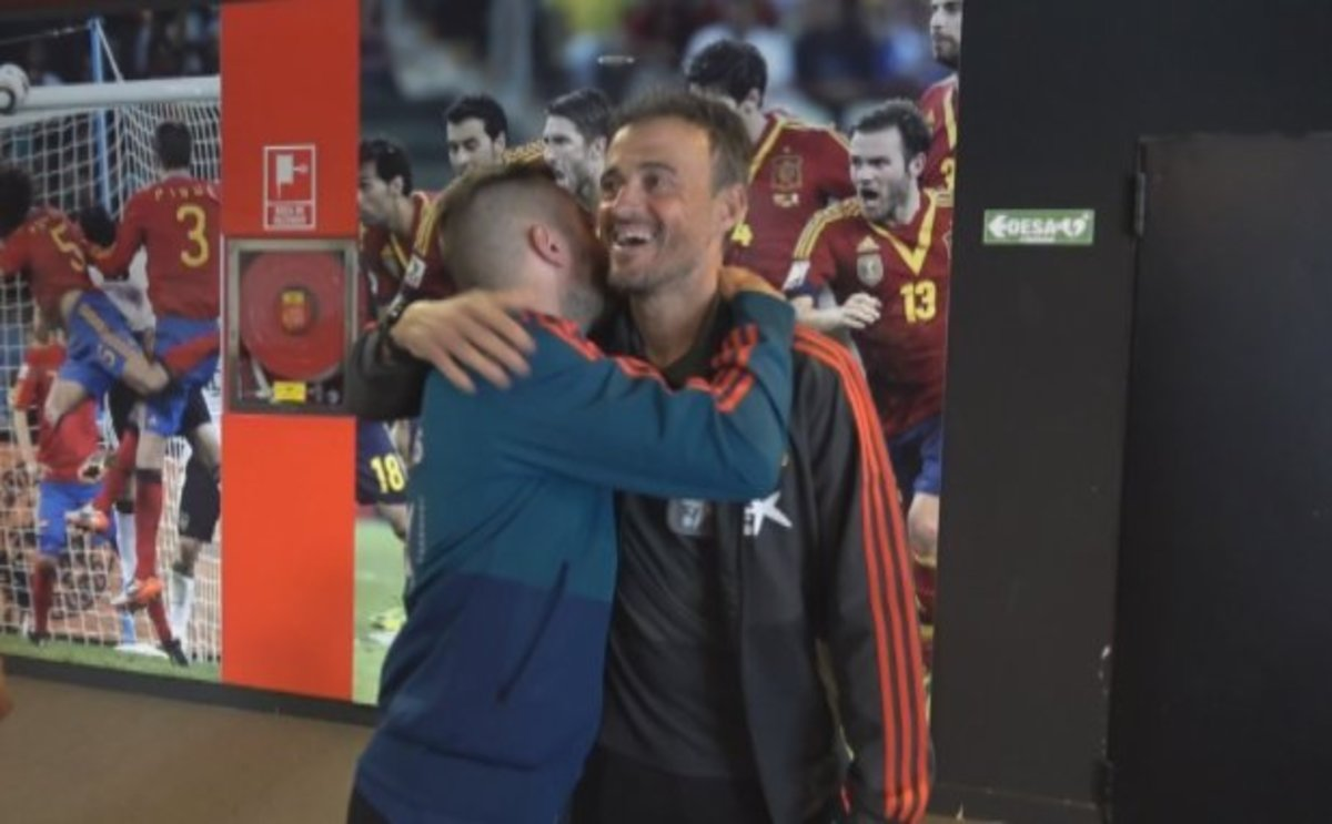 Así ha sido el reencuentro entre Luis Enrique y Jordi Alba