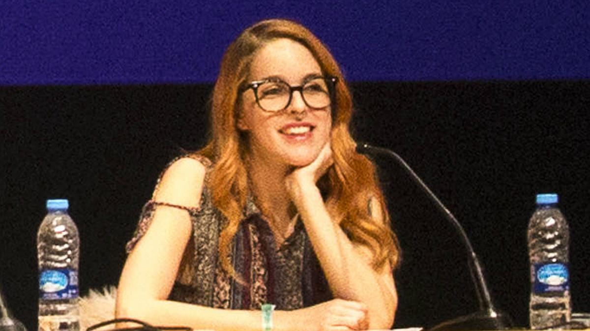 Amarna Miller, en unas charlas sobre sexo en Barcelona, el pasado marzo.