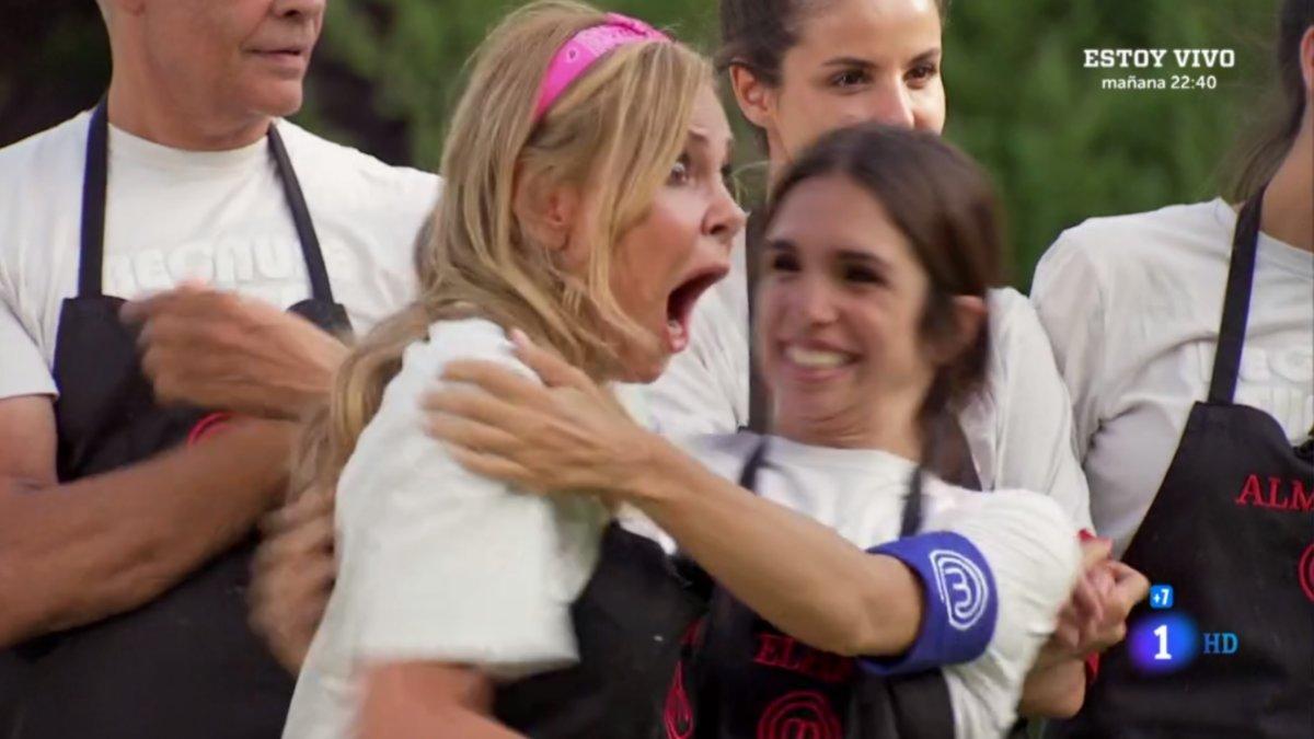 Ana Obregón conociendo que es la repescada en 'Masterchef Celebrity'.