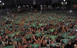 Marchas para legalizar el aborto en Argentina.