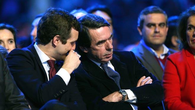 Aznar ve a Casado un líder como un castillo sin tutelas, ni tutías.