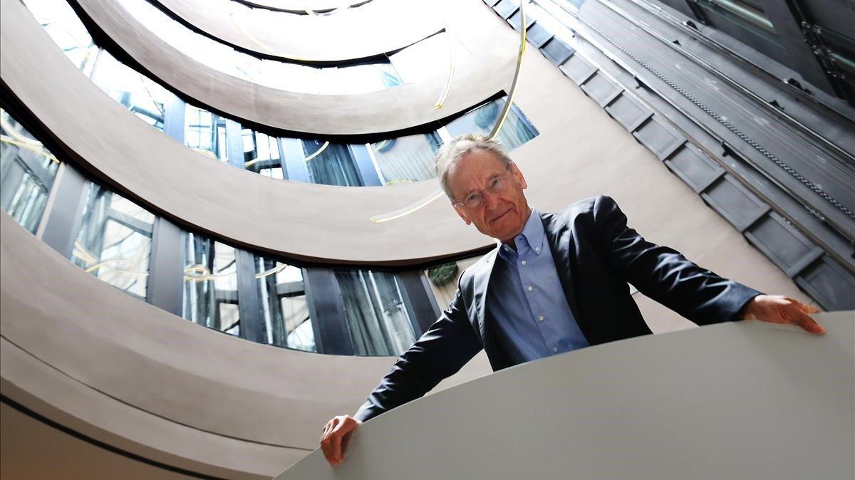 Bernhard Schlink, durante su reciente visita a Barcelona.
